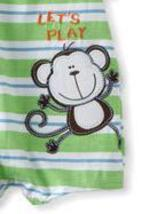 Baby Togs Baby Boys Infant Monkey Romper