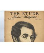 Vintage 1937 copy THE ETUDE MUSIC MAGAZINE Tribute to Carl Maria von Weber - $8.50