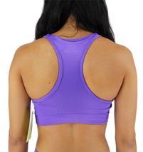 NEW W SPORT WOMEN'S ATHLETIC GYM SPORT WORKOUT BRA CROP TOP PURPLE AP-4823 image 3