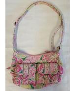 Vera Bradley Pinwheel Pink Libby Shoulder Bag Purse Pink Green White - $15.80