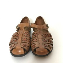 Cobb Hill by New Balance Paige Brown Leather Sandals Size 9M Hook and Lo... - €27,20 EUR
