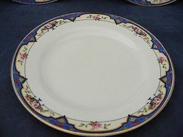 """J G Meakin Alma Red Roses Blue Trim Oval Platter 12.25 x 9.5"""" Good Used - $29.95"""