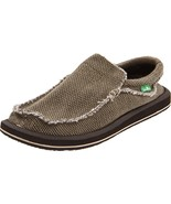 Men's Sanuk Chiba Sidewalk Surfer Shoe, SMF1047 Sizes 10-11 Brown Textile - $69.95