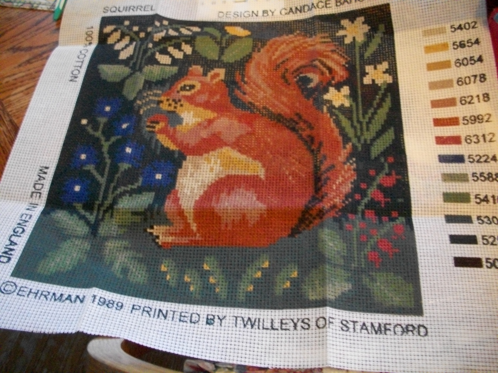 Primary image for Candace Bahouth Squirrel Needlepoint Canvas Pattern