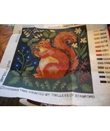 Candace Bahouth Squirrel Needlepoint Canvas Pattern  - $75.00