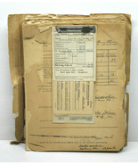 Major Walter Hall WWII Traveling Enlistment Promotion File Records 1945 ... - $92.57