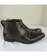 Gucci Boots Brown Leather Dress Chukka Chelsea Ankle Men's 11.5 D 107601... - $159.99