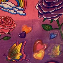 VINTAGE Lisa Frank FULL Sticker Sheet 90s Roses Hearts Butterfly Rainbow S142 image 3