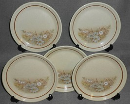 1980 Set (5) Royal Doulton FLORINDA PATTERN B&B or Dessert Plates ENGLAND - $49.49