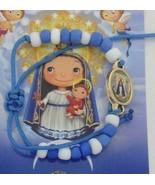Caridad Del Cobre Pulsera blue & white Bracelet Newborn Niños Lady Chari... - $9.78