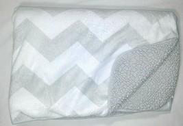 CIRCO Grey White Zig Zag Chevron Baby Blanket Sherpa Unisex TARGET Lovey... - $25.16