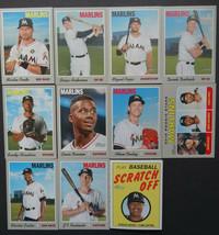 2019 Topps Heritage Miami Marlins Master Team Set of 11 Baseball Cards - $6.99