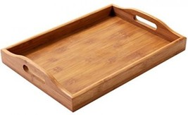 Wood Food Serving Tray With Double Handles - F... - $22.97