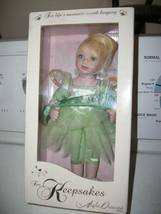 Marie OSMOND 2009 TINKERBELL BELIEVE Keepsake Doll 9 1/2 Tall   - $19.99