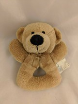 "Koala Baby Tan Bear Rattle Grabber Plush 5"" Stuffed Animal toy - $6.95"