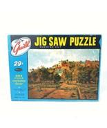 Vintage Guild Jigsaw Puzzle Pontoise Complete w/ Box Landscape France Eu... - $19.54