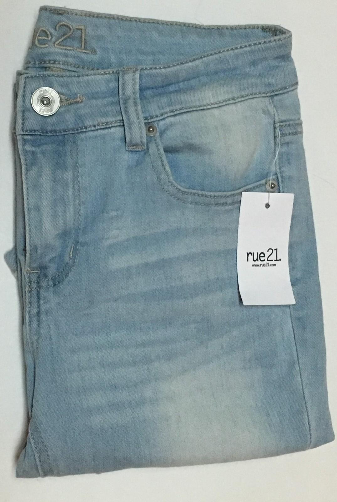 Rue 21 Mid Rise Legging Blue Jeans Juniors 4R