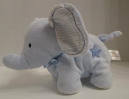 "Carters Baby Blue Elephant Plush Stuffed Soft Baby Toy Star Stripe 9"" 99326 - $21.73"