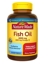Nature Made Fish Oil 1000 mg Softgels, 90 Count for Heart Health†  - $15.42
