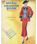 ORIGINAL Vintage August Autumn 1934 McCall Fashion Book Magazine FRESH! - $139.96