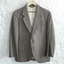 Kupp Kuppenheimer 2 Button Sport Coat Jacket Taupe Brown Striped Vent Me... - $29.69