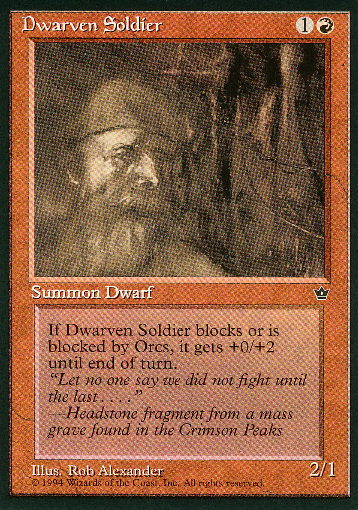 Magic: The Gathering - Fallen Empires - Dwarven Soldier (A)
