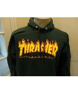 Vintage Green Thrasher Skateboard Magazine Hoodie Sweatshirt Adult M Fla... - $49.45