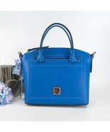 Dooney and Bourke Royal Blue Leather Claremont Dome Large Satchel Bag NWT - $261.86