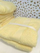 Room Essentials Hand Towel Set 2pk LEMON ICE 100% Cotton,15'' X 25'' NEW-W-TAGS image 1