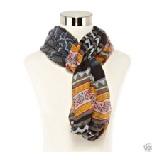 Aztec Multi Loop Figure 8 Scarf New With Tags Msrp $26.00 - £7.59 GBP