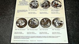 The Storyteller by  Norman Rockwell Plate with Box ( Knowles ) AA20CP2176 image 9