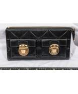 Marc Jacobs Black Patent Leather Double Pushlock tthc - $64.34