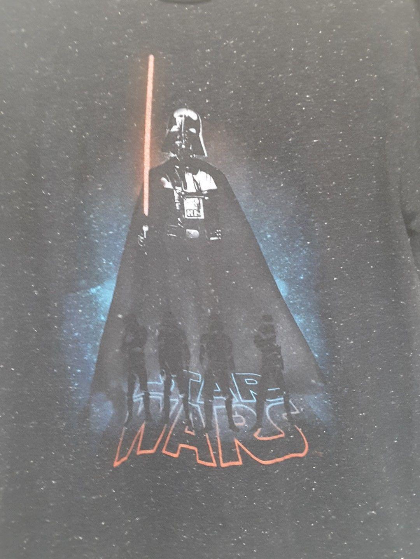 Star Wars SMALL T Shirt Tee Black Speckled Darth Vader Lightsaber Thin Knit