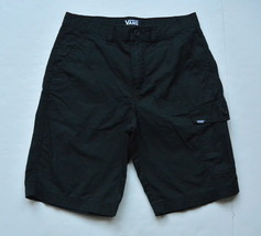 Vans Cargo Shorts Big Boys Youth 16 Black Cotton - $9.95