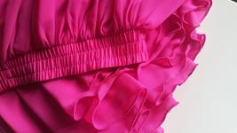Aline Chiffon Maxi Skirt High Waisted Wedding Chiffon Skirt Purple Green Pink image 4