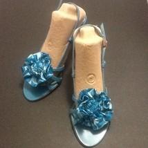 Coach Rosette Leather Strap Slingback Heel Sandals Size 7 - $38.79