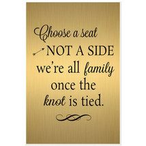 Gold and Black Choose a Seat Poster - $19.31+