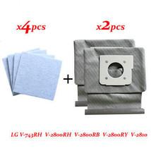 4 * motor baumwolle filter + 2 * Waschbar LG staubsauger taschen staubbe... - $13.06