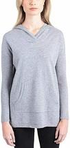 Cyrus Ladies' Drop Shoulder Ribbed Hem Pullover Hoodie (L, Denim) - $49.99