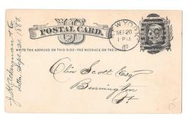 Scott UX5 New York Station 29 Duplex Ellipse Cancel 1880 Postal Card - $6.99