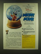 1990 New England Collectors Society Disney Character Crystal Snow Globe Ad - $14.99
