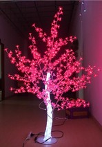 5 ft Height LED Christmas New year decor Light Crystal Cherry Blossom Tree Red - $369.00