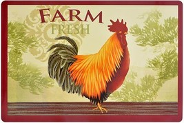 Set of 2 Kitchen Vinyl NON CLEAR Placemats, FARM FRESH ROOSTER by GR - $9.89
