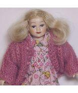 Dollhouse Girl Dressed HOXC011 Heidi Ott Doll pink sweater Miniature - $81.70