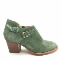 6.5 - Schuler & Sons Anthropologie Green Suede Ankle Boots Booties 0000MB image 1