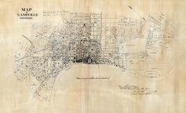 1860 Nashville Civil War Map Military Battle Tennessee Wall Art Poster H... - $12.38+