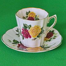 Beautiful Vintage (1961+) Taylor & Kent Elizabethan Cup & Saucer Set, Roses - $5.95