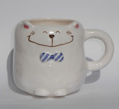 Russ Berrie Bitsy & Beau Kitten-Shaped Coffee Mug Hand-Painted Style #55... - $14.49