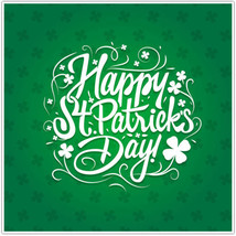 Happy Saint Patrick's Day Poster Clover Wall Art Decor - $14.50