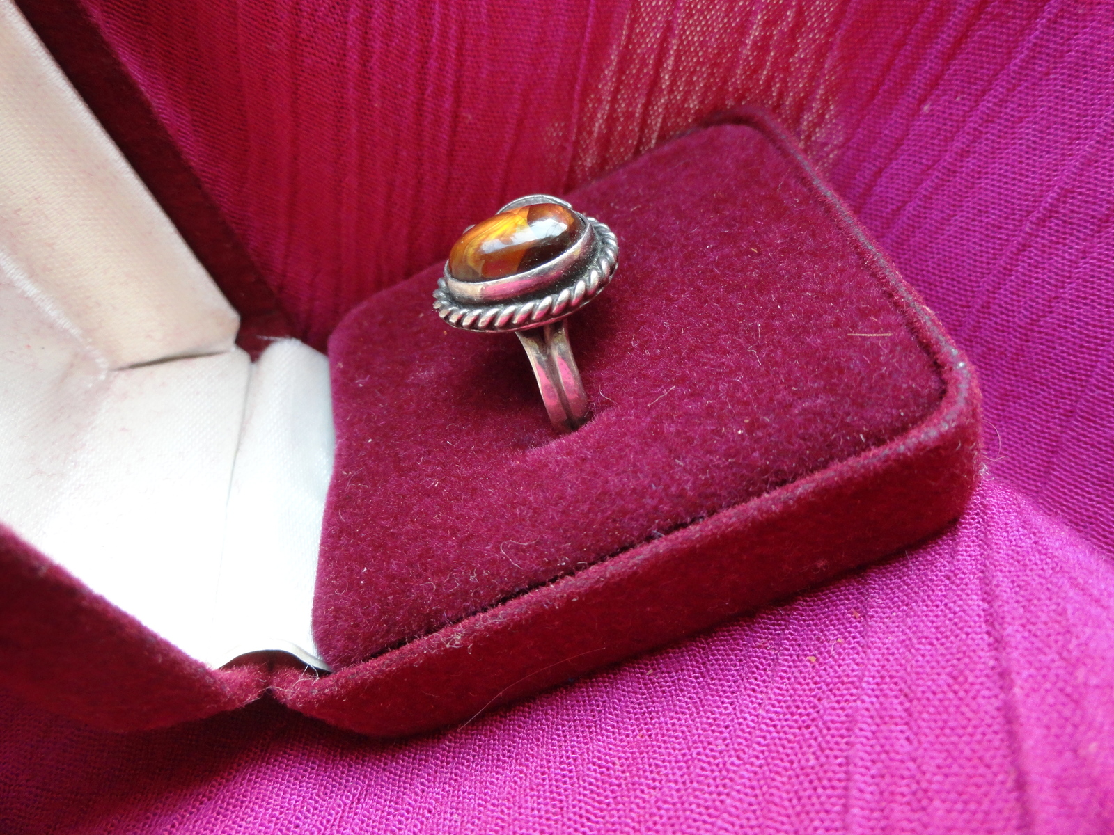 Fire Agate Stone Ring Size 6 Vintage and 50 similar items